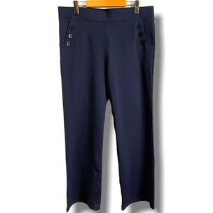 BETABRAND BOOT CUT SIX BUTTON DRESS/YOGA PANT XL